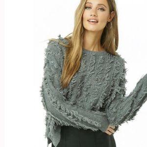 Lumière Mustard Purl Knit Sweater L EUC